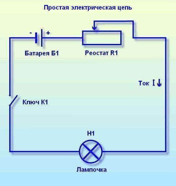 Электрическая цепь · Схема